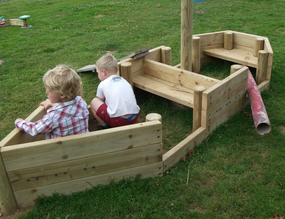 Pirate ship play boat